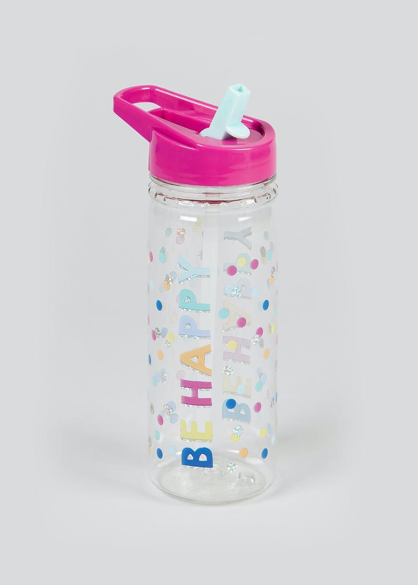 Be Happy Rainbow Dot Water Bottle