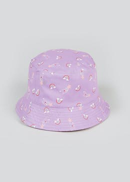 Girls Reversible Sun Hat (3-6yrs)
