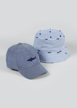Kids 2 Pack Sun Hat & Cap (3-6yrs)