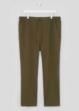 Papaya Curve Drawstring Tapered Utility Trousers