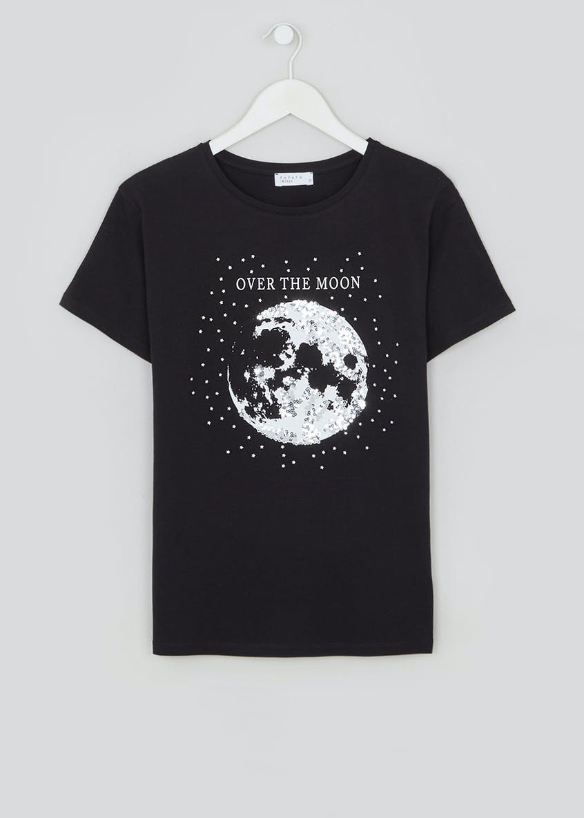Over The Moon Sequin T-Shirt
