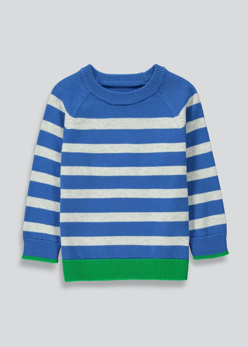 Boys Stripe Fine Knit Jumper (9mths-6yrs)