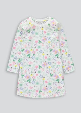 Girls Long Sleeve Floral Nightie (4-13yrs)