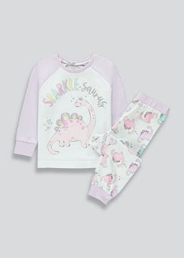 Girls Sparkle-Saurus Pyjama Set (9mths-5yrs)