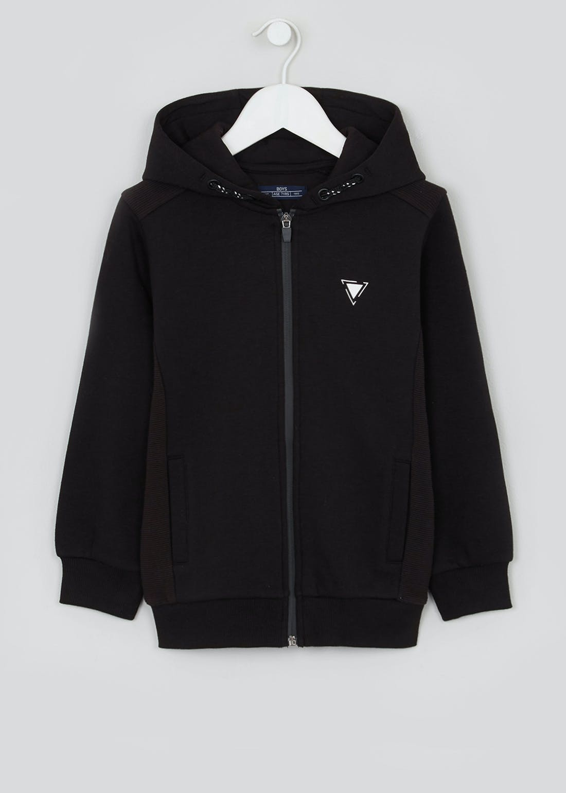 Boys Zip Up Ribbed Hoodie (4-16yrs)