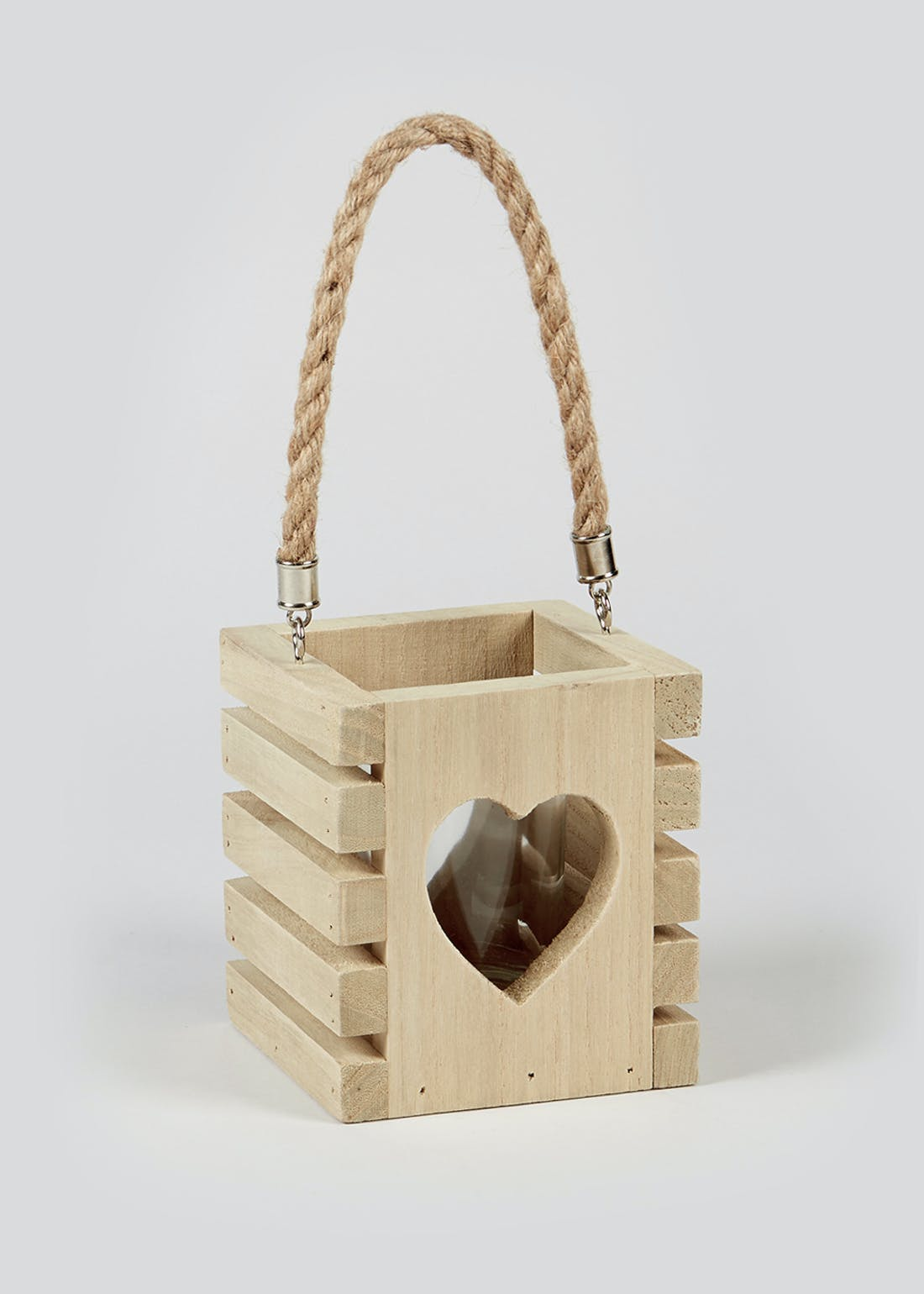 Wooden Heart Tealight Holder (13cm x 11.5cm x 11cm)