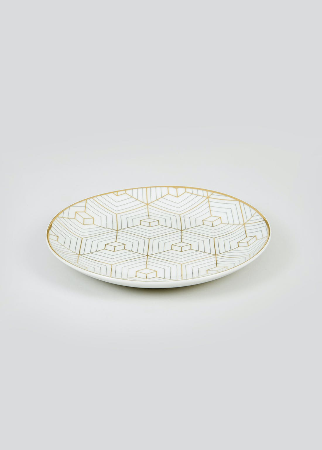 Geometric Metallic Side Plate (19cm)