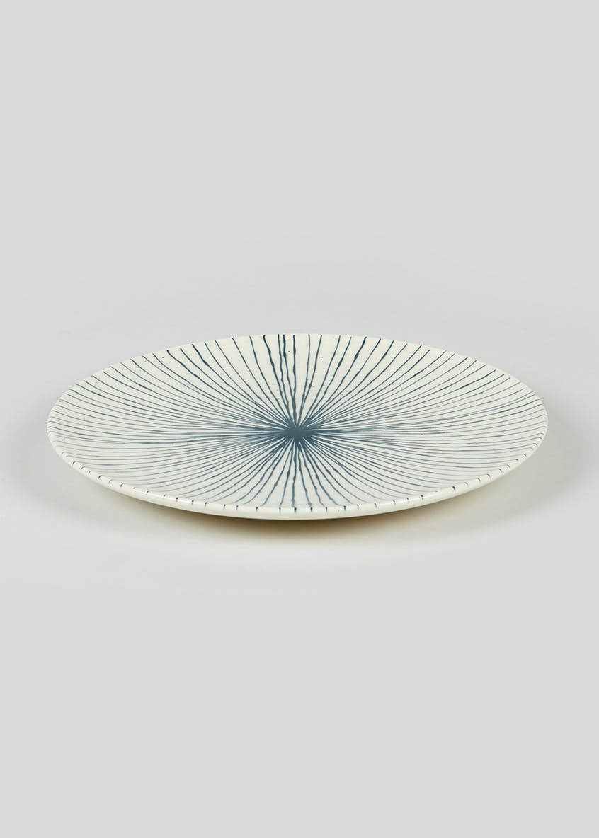 Stripe Earthenware Dinner Plate (27cm)