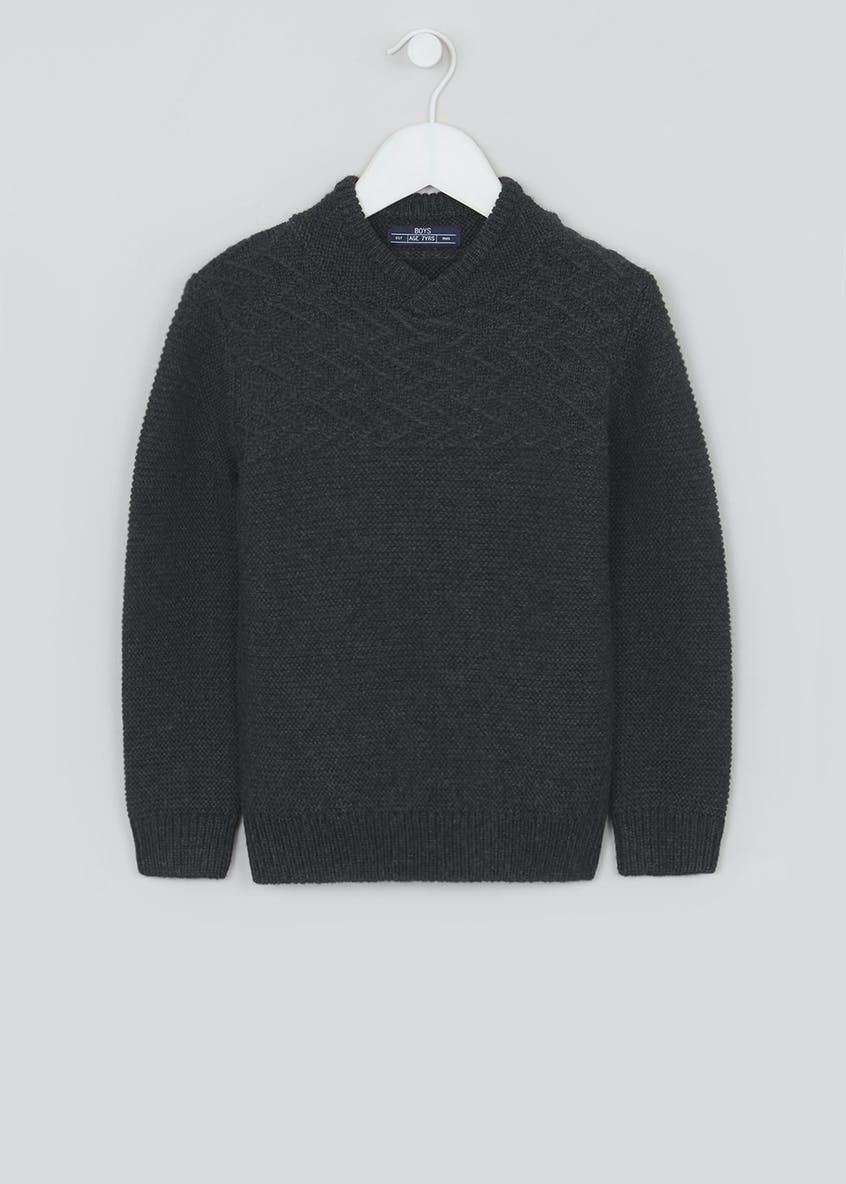 Boys Cowl Neck Jumper (4-13yrs)