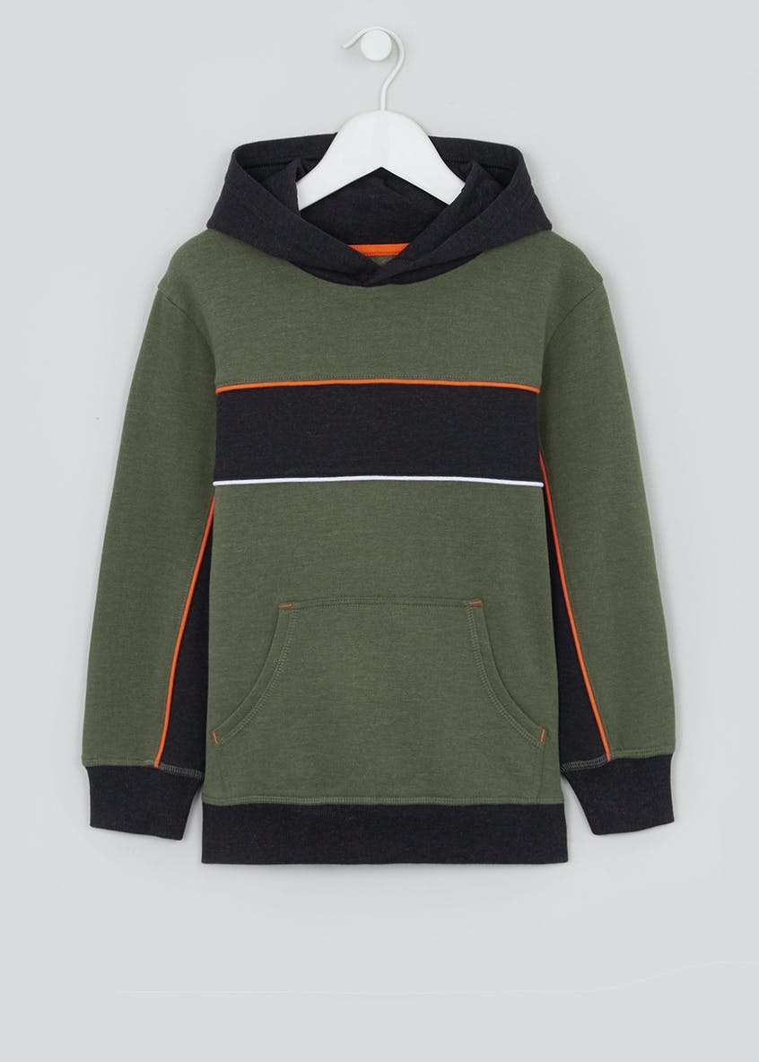 Boys Colour Block Pull On Hoodie (4-13yrs)