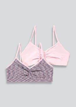 Girls 2 Pack Seam Free Crop Tops (6-13yrs)