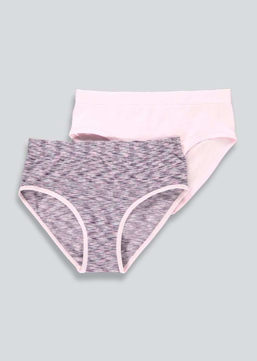 Girls 2 Pack Seam Free Briefs (6-13yrs)