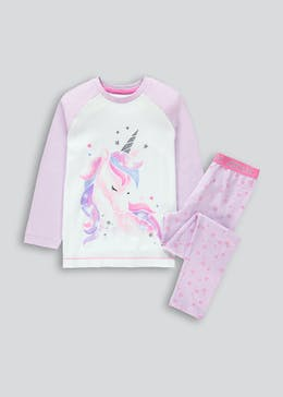 Girls Unicorn Pyjama Set (4-13yrs)