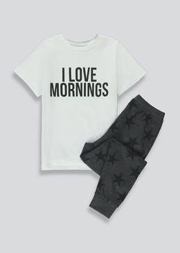 Kids Morning Slogan Family Pyjama Set (2-13yrs)