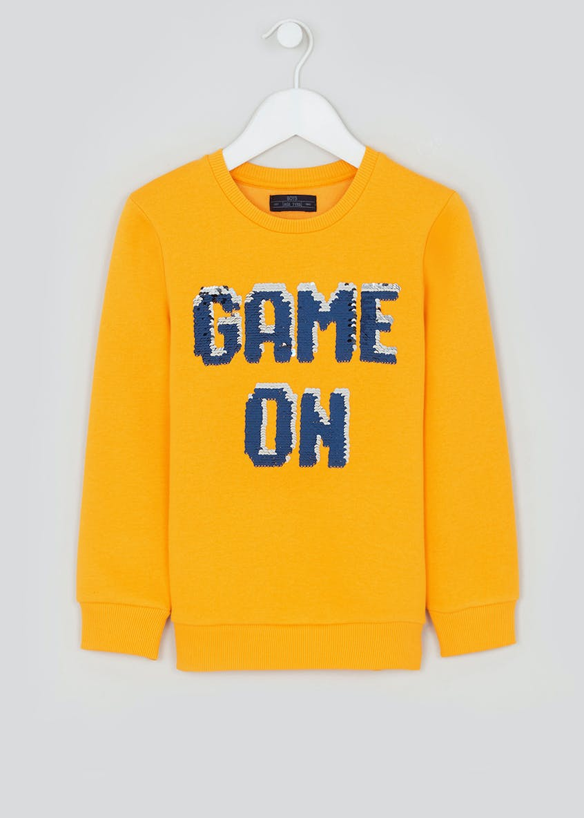 Boys Game On Flippy Sequin Sweatshirt (4-13yrs)
