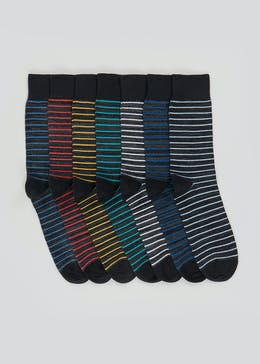 7 Pack Cotton Rich Socks