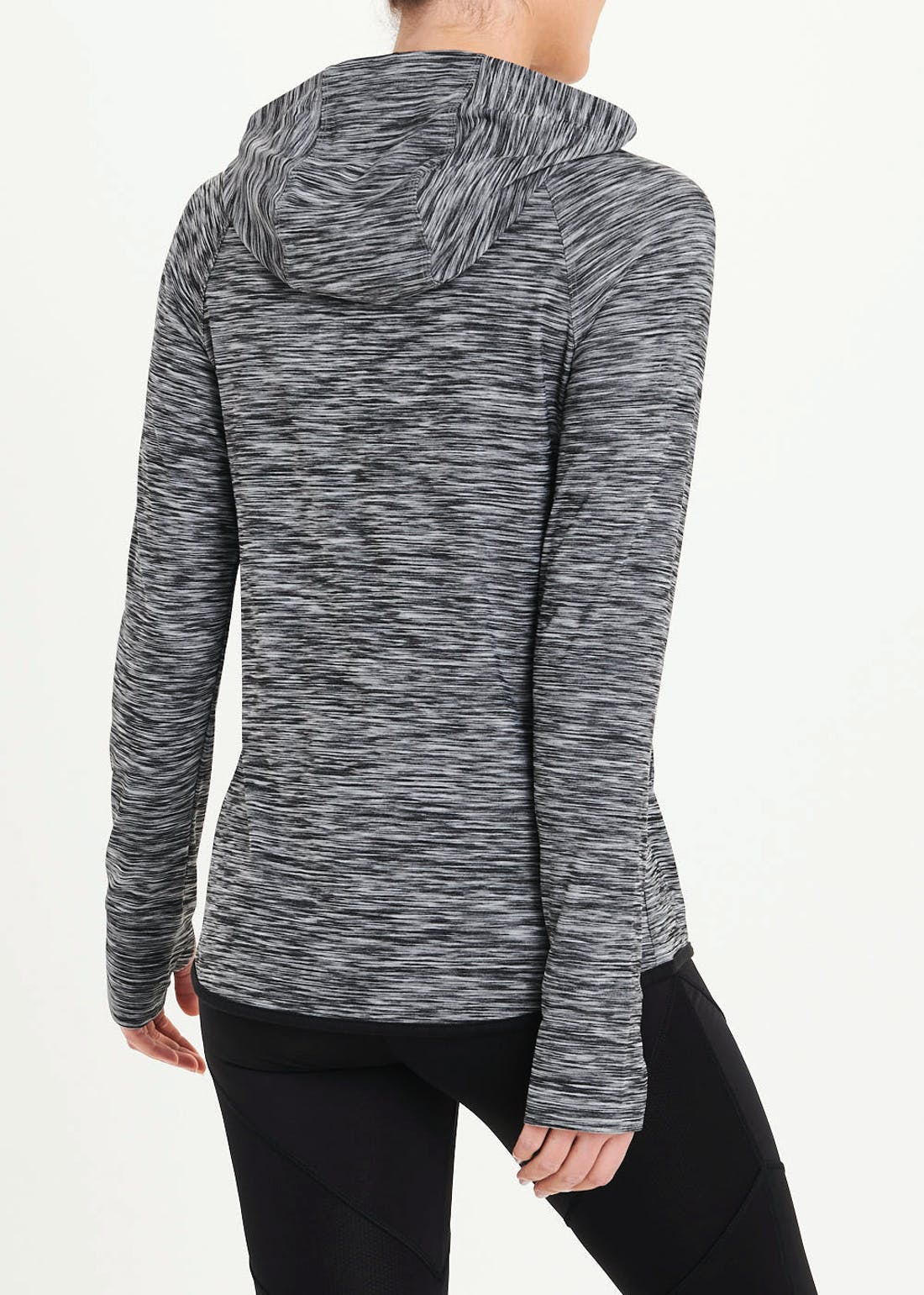 Souluxe Grey Space Dye Zip Through Sports Top