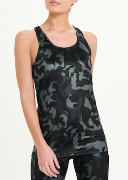 Souluxe Grey Camouflage Gym Vest