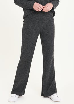 Soft Touch Ribbed Wide Leg Trousers