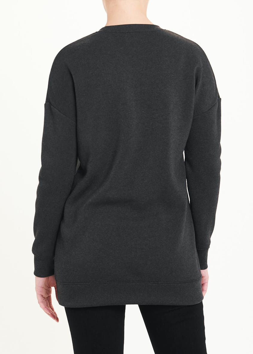Beautiful Slogan Longline Sweatshirt