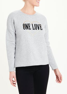 One Love Slogan Sweatshirt