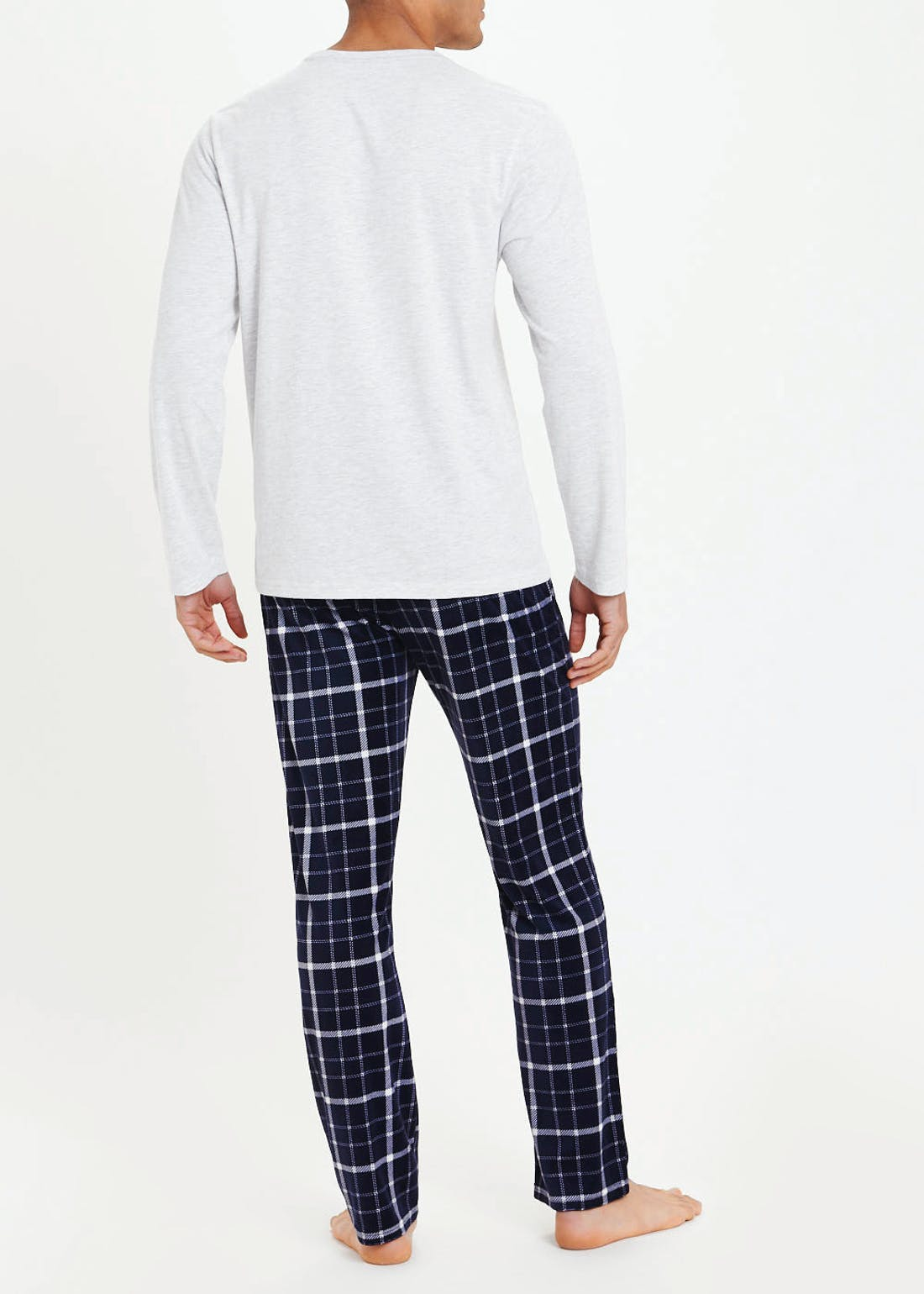 Check Fleece Long Sleeve Pyjama Set