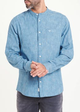 Morley Long Sleeve Grandad Collar Shirt