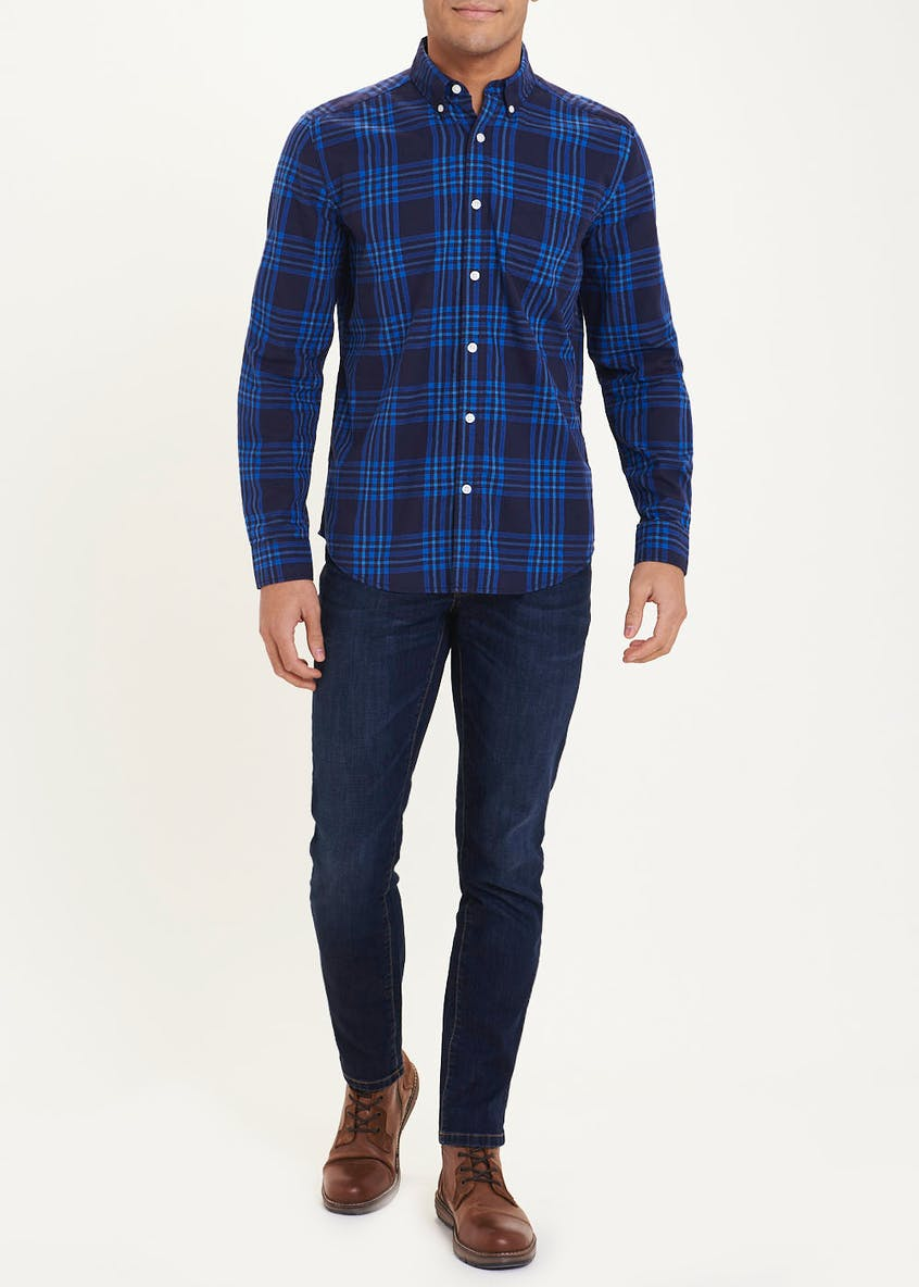 Long Sleeve Windowpane Check Shirt