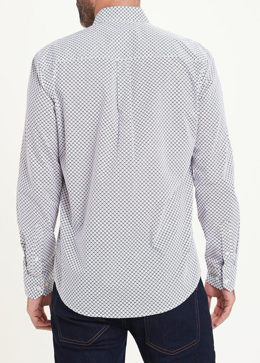 Geo Print Long Sleeve Shirt