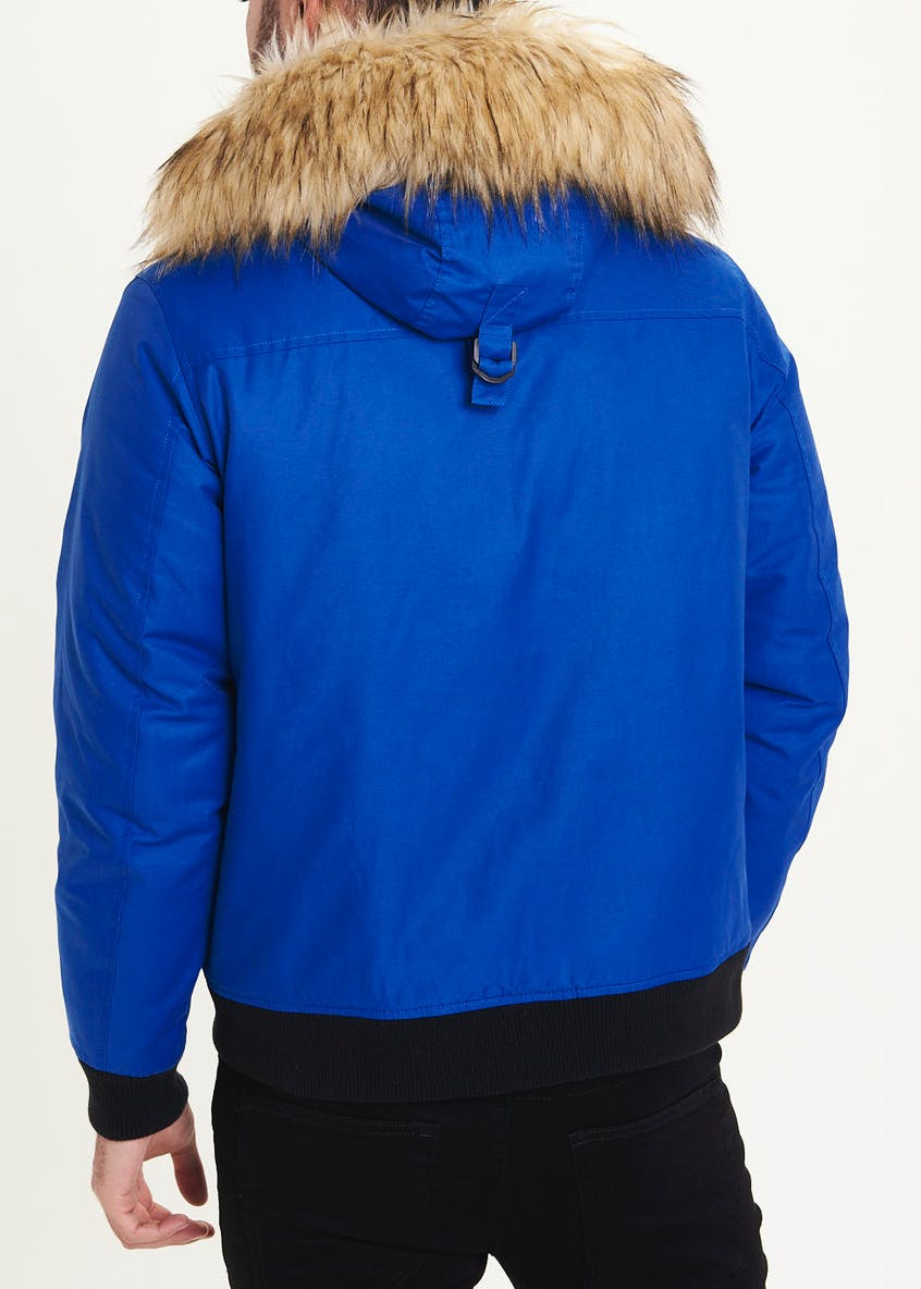 Cobalt Blue Short Parka Coat