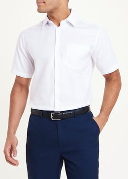 Taylor & Wright Short Sleeve Regular Fit Oxford Shirt
