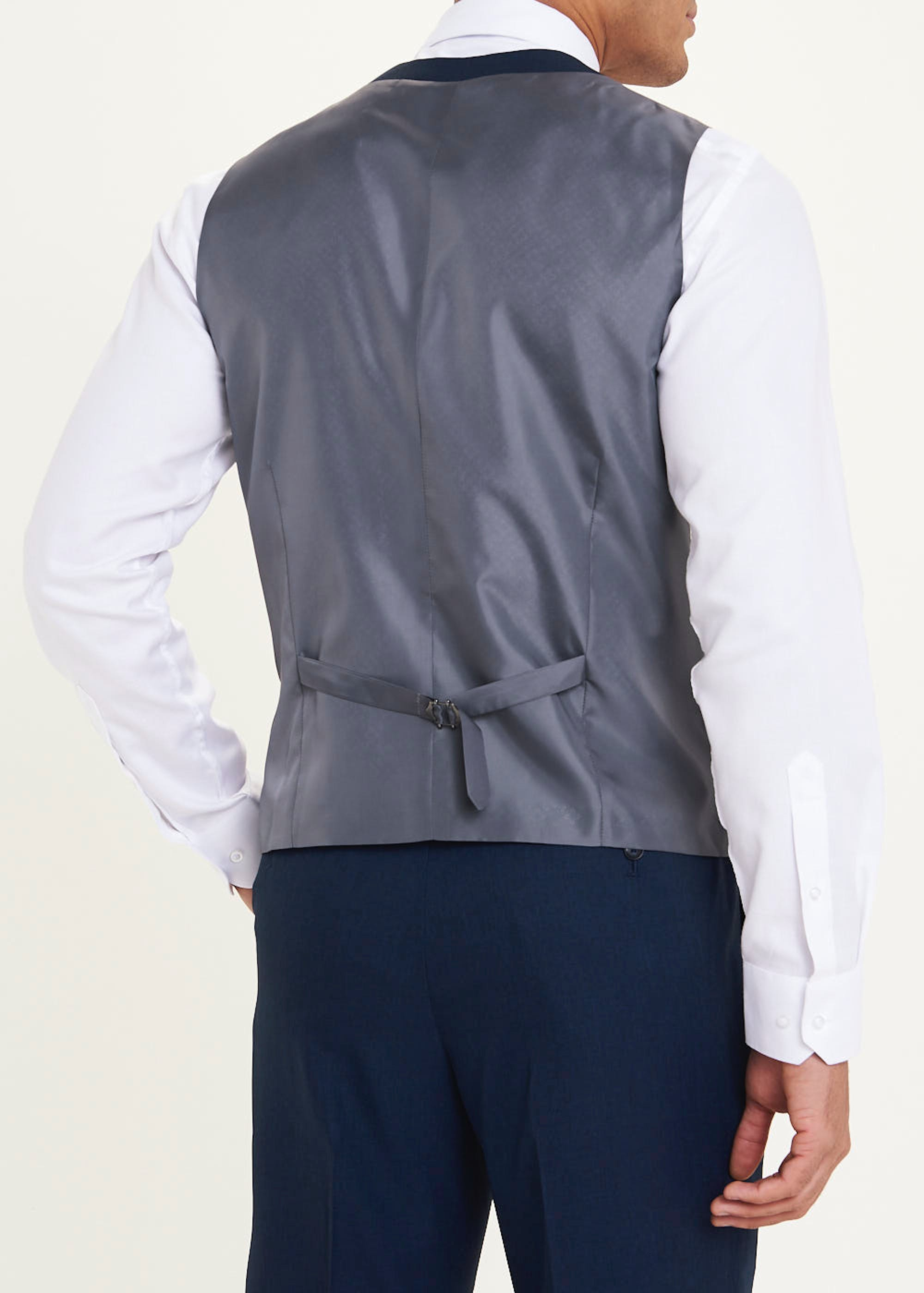 Taylor & Wright Connor Tailored Fit Waistcoat Blue J7PYZ8