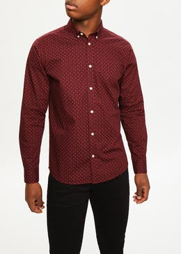 Big & Tall Long Sleeve Geo Print Shirt