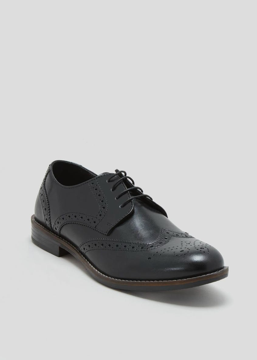 Taylor & Wright Black Real Leather Gibson Brogues