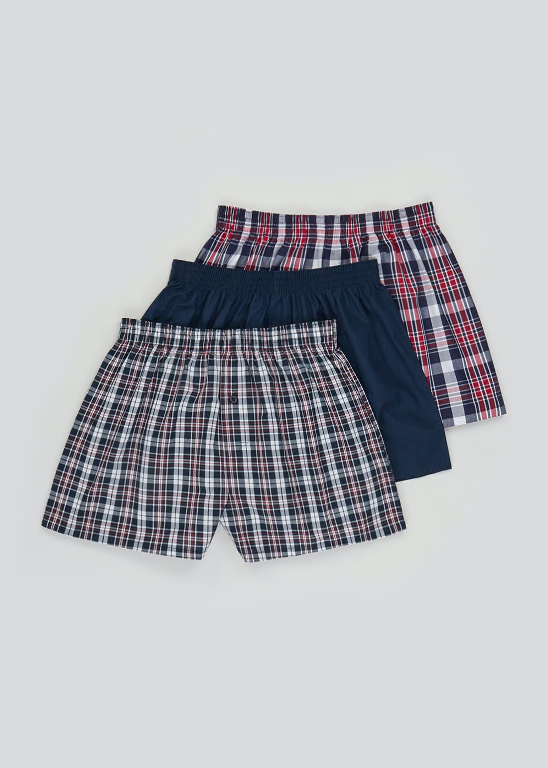 3 Pack Cotton Woven Boxers