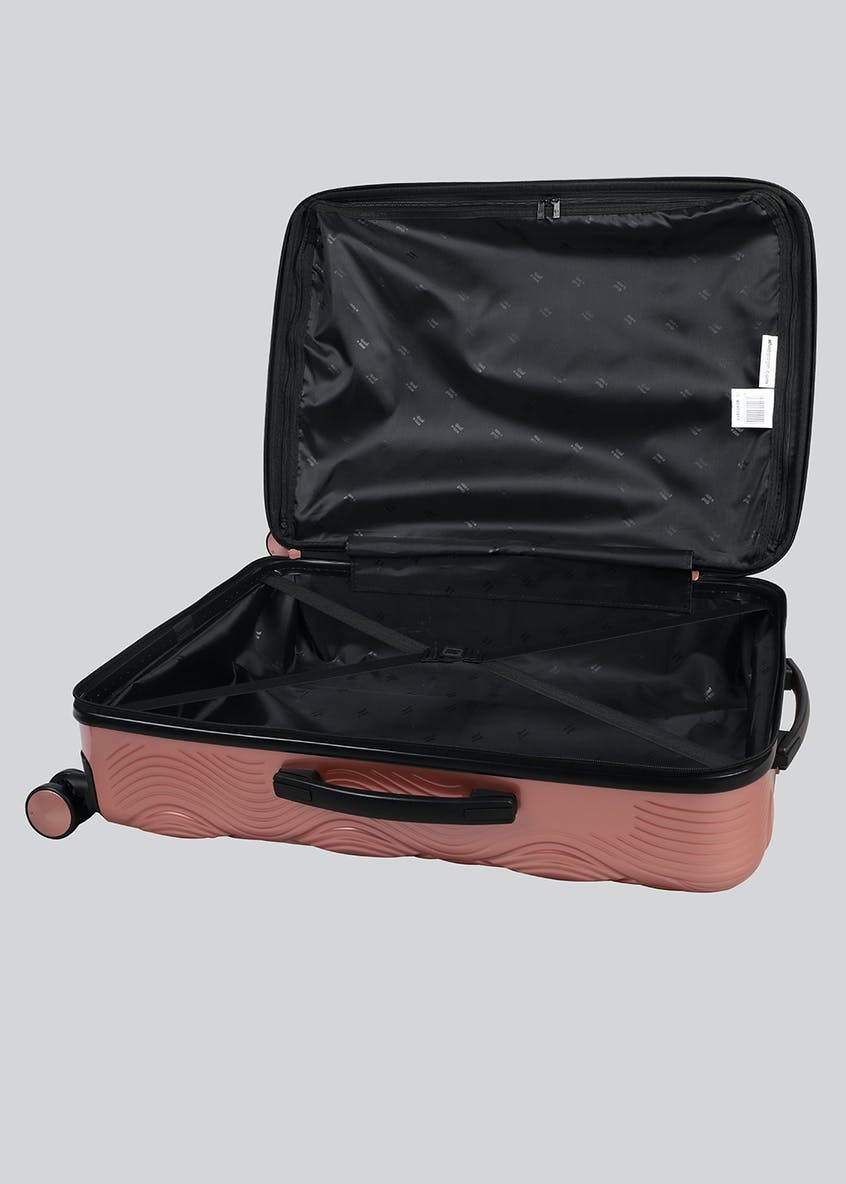 IT Luggage Embossed Metallic Suitcase