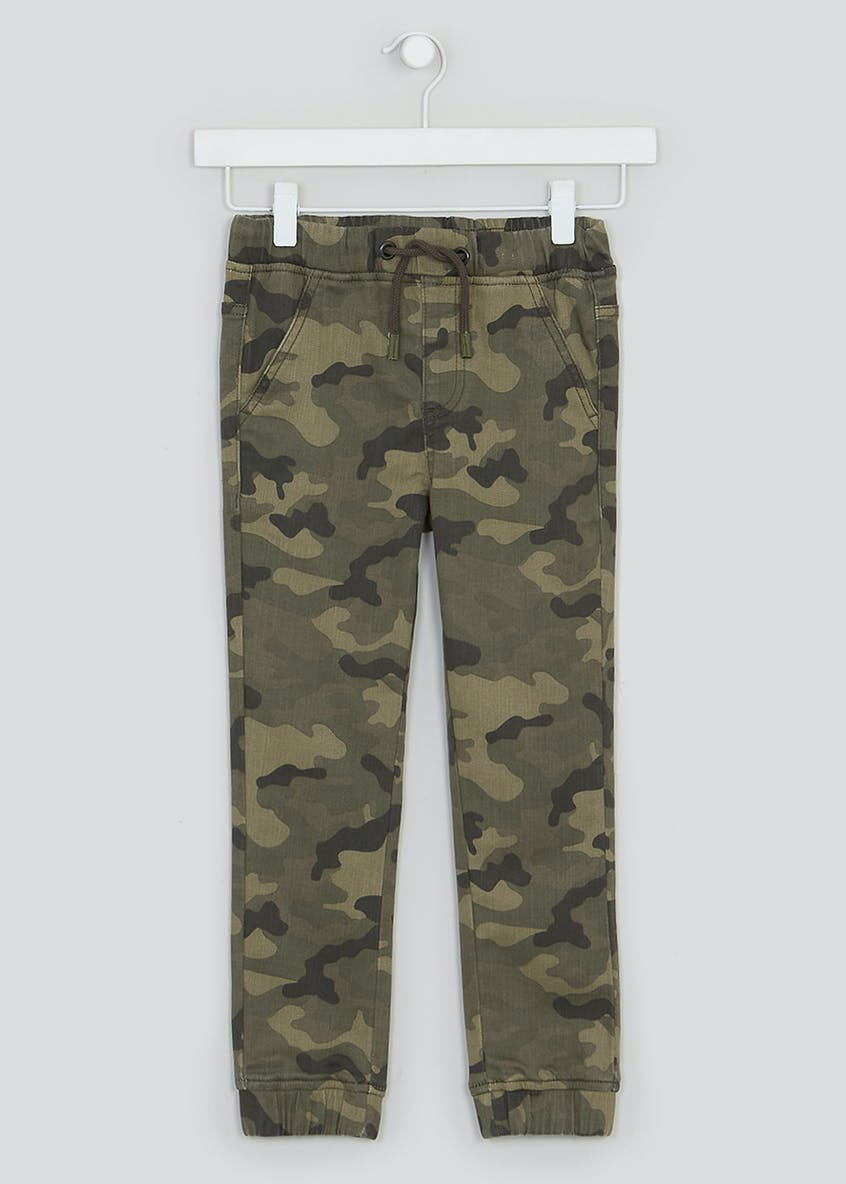 Boys Slim Knitted Camo Print Jeans (4-13yrs)
