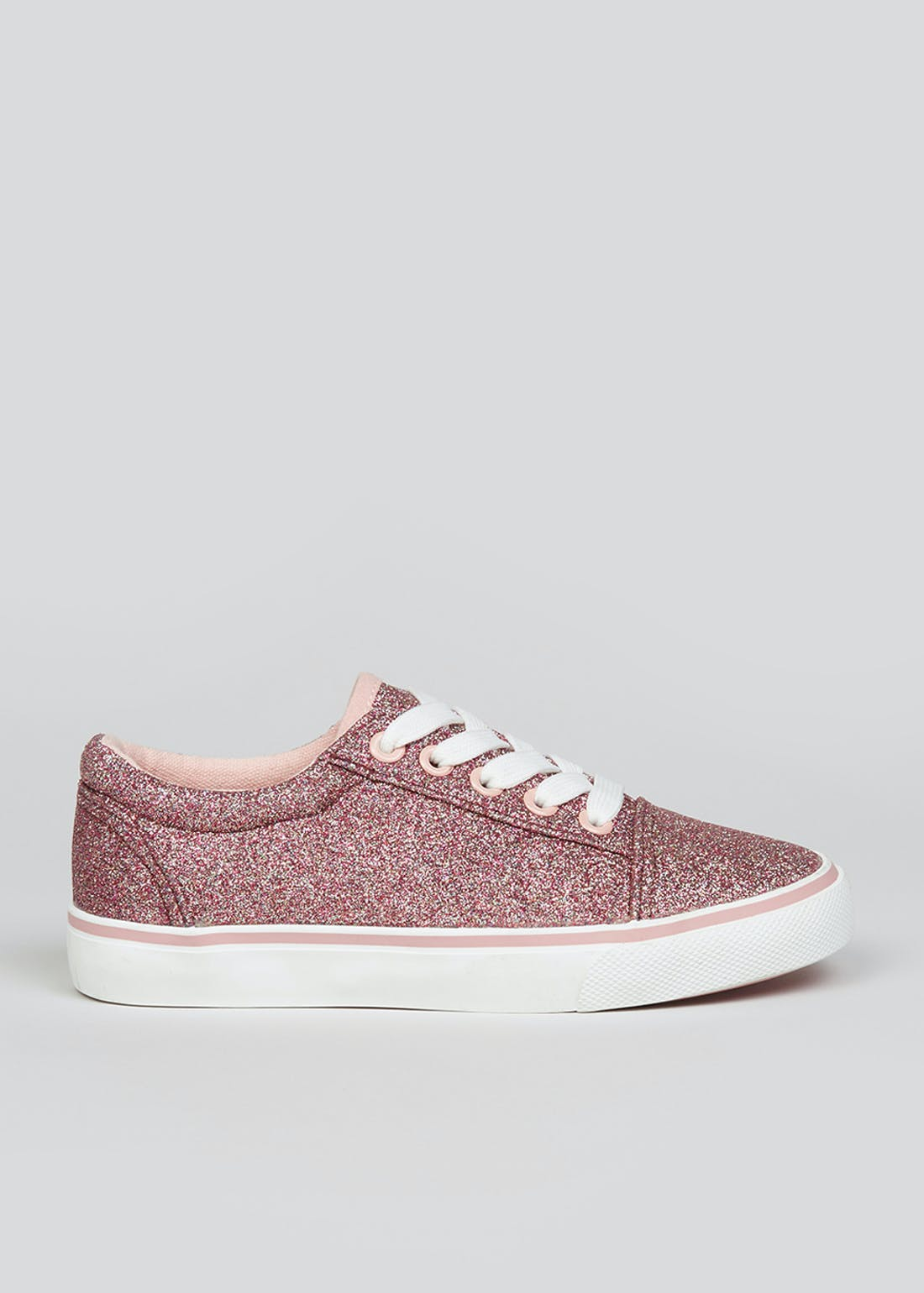 Girls Pink Glittery Trainers (Younger 10-Older 5)