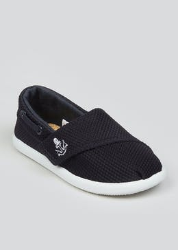 Boys Navy Slip On Plimsolls (Younger 4-12)
