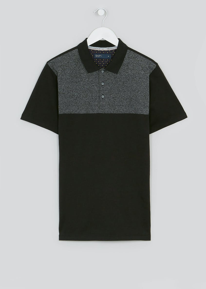 Short Sleeve Panel Polo Shirt