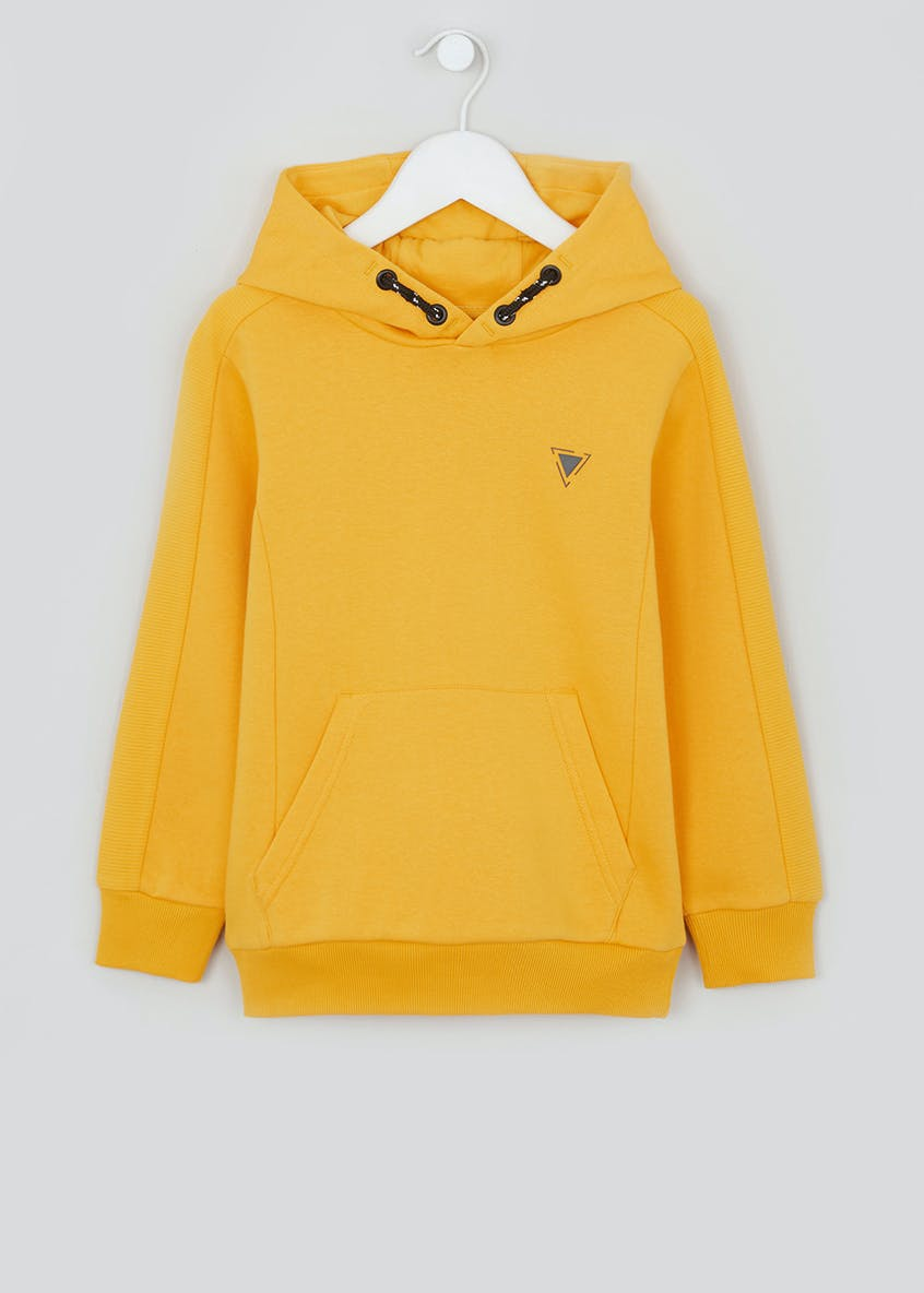 Boys Ribbed Panel Hoodie (4-13yrs)