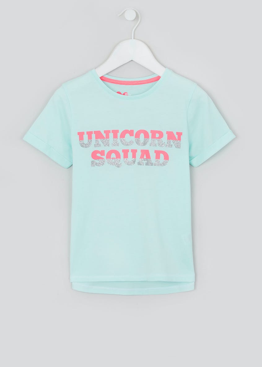 Girls Unicorn Squad T-Shirt (4-13yrs)
