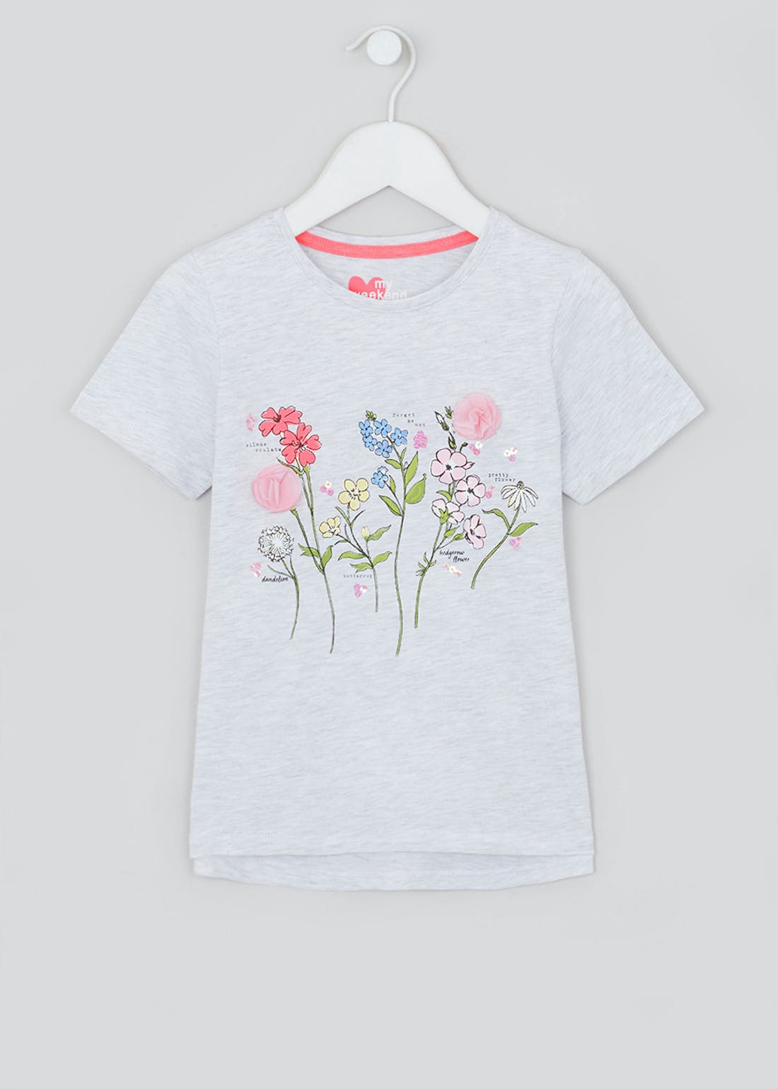 Girls 3D Flower T-Shirt (4-13yrs)