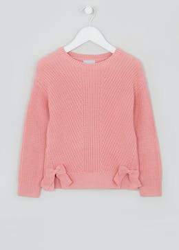 Girls Knitted Side Bow Jumper (4-13yrs)