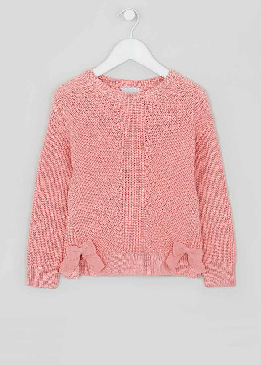 Girls Knitted Bow Jumper (4-13yrs)