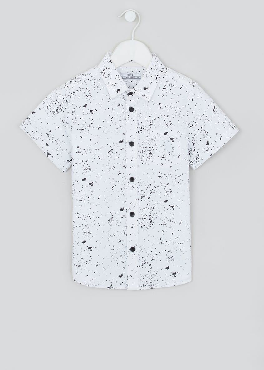 Boys Paint Splatter Short Sleeve Shirt (4-13yrs)