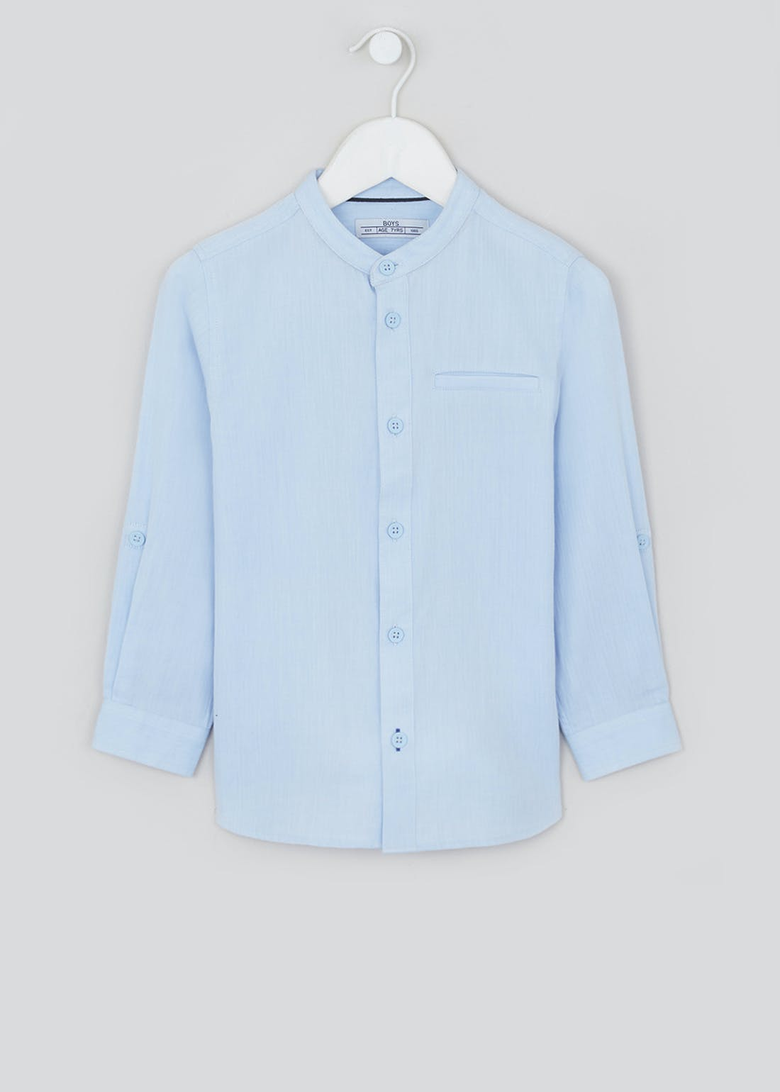 Boys Long Sleeve Henley Collar Shirt (4-13yrs)