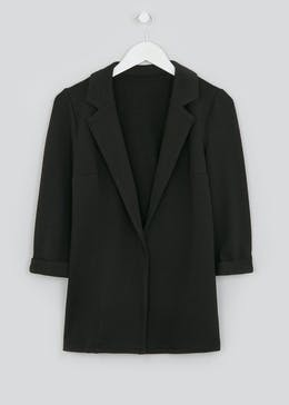 Papaya Petite Black Textured Blazer