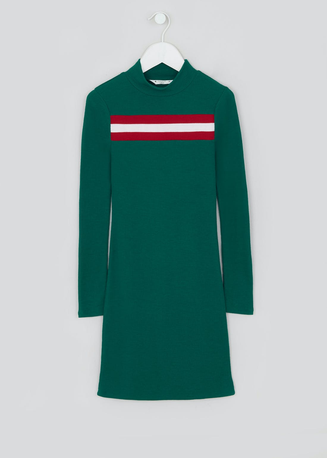 Girls Candy Couture Green Long Sleeve Dress (9-16yrs)