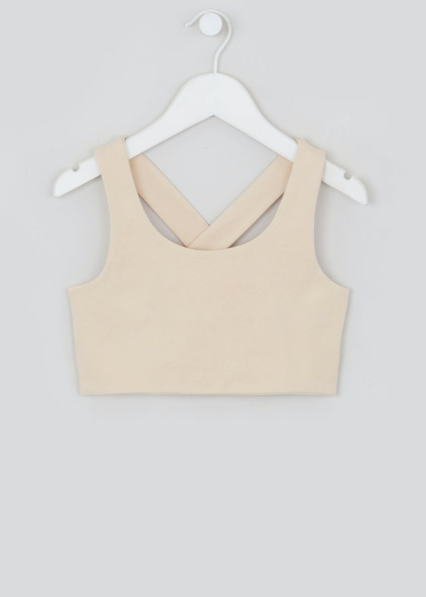 Girls Candy Couture X Jersey Crop Top (9-16yrs)